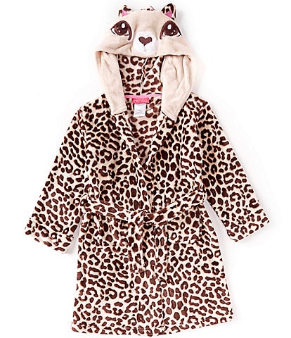 Komar Kids Little/Big Girls 4-16 Cheetah Velvet Fleece Robe