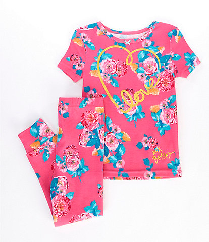 Betsey Johnson XOX Betsey Little/Big Girls 4-14 Bunch Of Roses 2-Piece Pajamas Set
