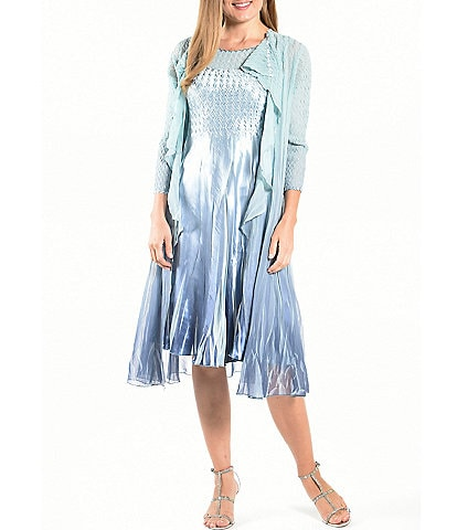 Komarov Ombre Cascade Duster Jacket Dress