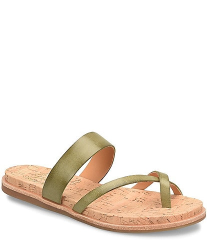 Kork-Ease Belinda Leather Flat Thong Sandals