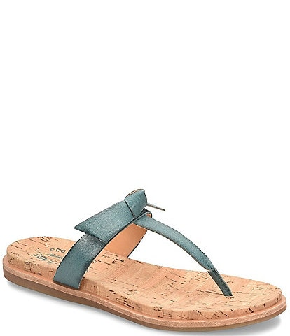 Kork-Ease Blake Leather Knot Bow Thong Flat Sandals