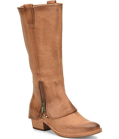 Kork-Ease Kayla Tall Leather Block Heel Boots