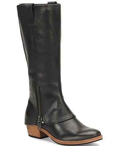 Kork-Ease Kayla Tall Leather Block Heel Boots