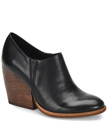Kork-Ease Leave Leather Block Heel Shooties