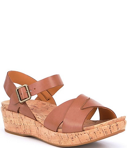 Kork-Ease Myrna Ankle Strap Banded Leather & Cork Sandals