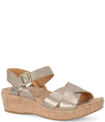 Kork-Ease Myrna Ankle Strap Banded Leather Sandals