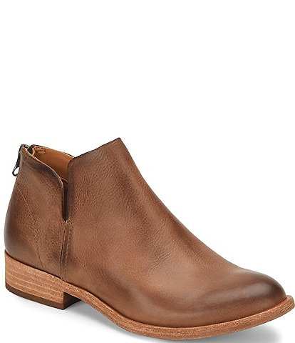 Kork-Ease Renny Leather Block Heel Ankle Booties