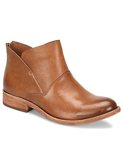 Kork-Ease Ryder Leather Block Heel Ankle Booties