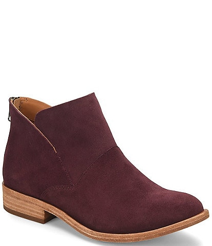 Kork-Ease Ryder Suede Block Heel Ankle Booties