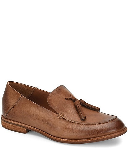Kork-Ease Tinga Leather Tassel Moc Toe Loafers