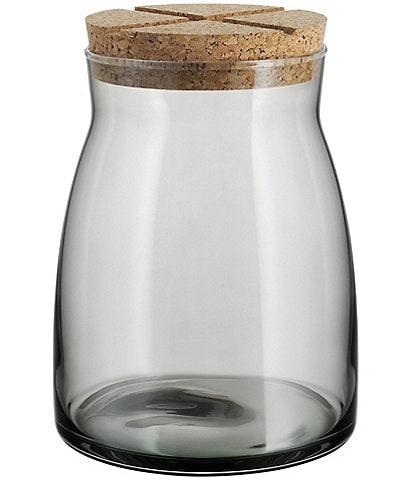 Kosta Boda Bruk Jar With Cork Lid, Large