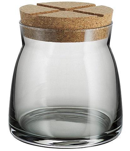 Kosta Boda Bruk Medium Jar With Cork Lid
