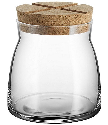 Kosta Boda Bruk Medium Jar With Cork Lid