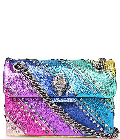 Kurt Geiger London Kensington Crystal Rainbow Stripe Mini Shoulder Bag