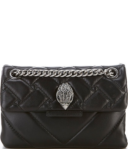 Kurt Geiger Kensington Mini Quilted Leather Crossbody Bag