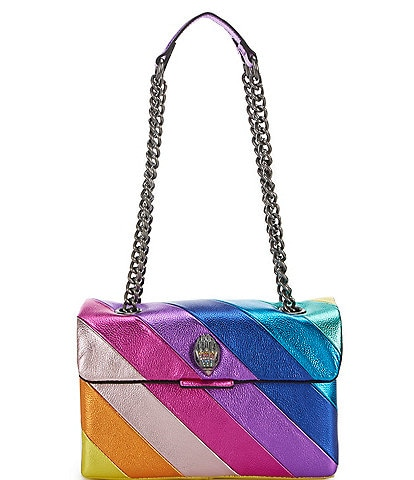 Kurt Geiger London Kensington Rainbow Metallic Crossbody Bag