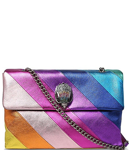 Kurt Geiger London Kensington Metallic Rainbow Stripe XXL Shoulder Bag
