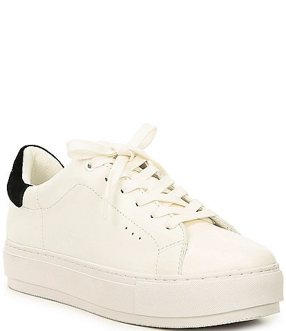 Kurt Geiger London Laney Leather Flatform Lace-Up Sneakers