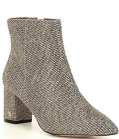 Kurt Geiger London Burlington Studded Block Heel Booties