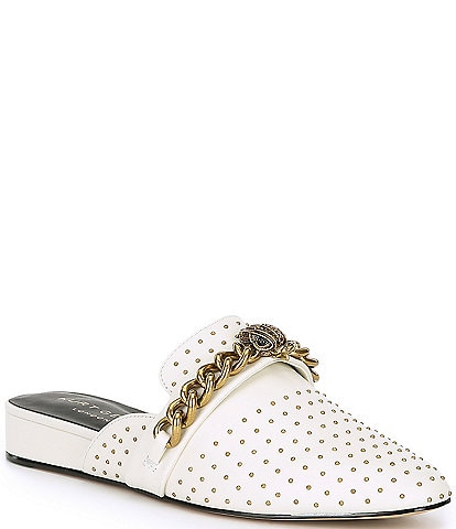 Kurt Geiger London Chelsea Studded Chain Leather Mules