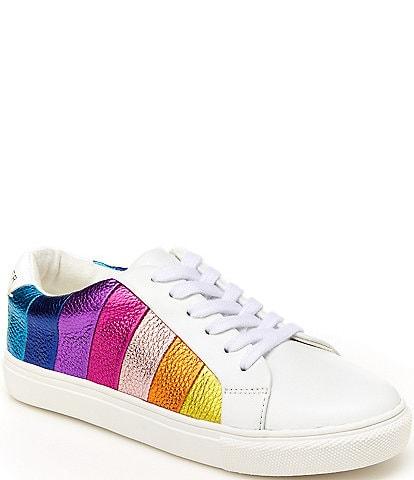 Kurt Geiger London Girls' Mini Lane Rainbow Stripe Sneakers (Toddler)