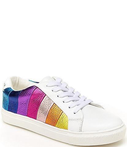 Kurt Geiger London Girls' Mini Lane Rainbow Stripe Sneakers (Youth)
