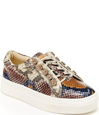 Kurt Geiger London Girls' Mini Liviah Snake Print Sneakers (Youth)