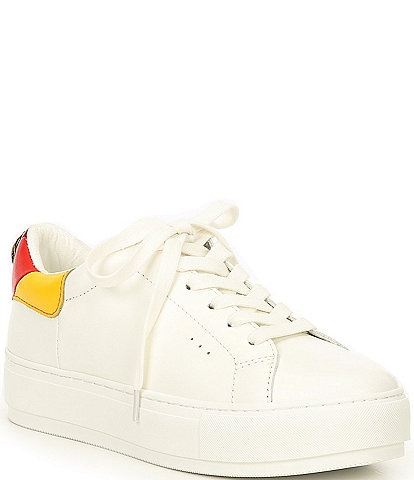 Kurt Geiger London Laney Eagle Ornament Detail Leather Rainbow Back Lace-Up Sneakers