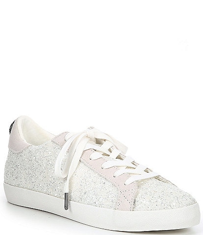 Kurt Geiger London Lexi Eagle Glitter Leather Lace-Up Sneakers