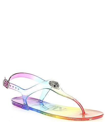 Kurt Geiger London Maddison Rainbow Jelly Flat Sandals
