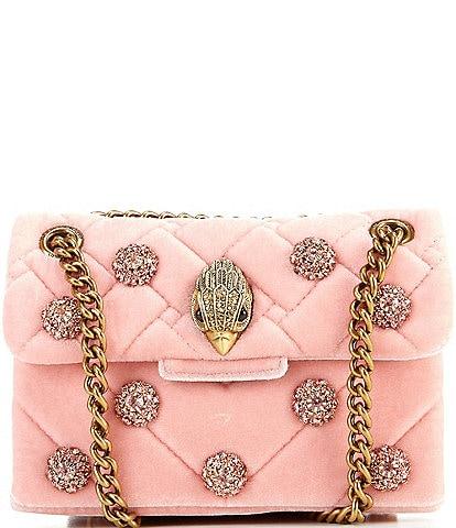 Kurt Geiger London Mini Kensington Velvet Crossbody Bag