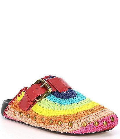 Kurt Geiger London Ozark Rainbow Buckle Mules
