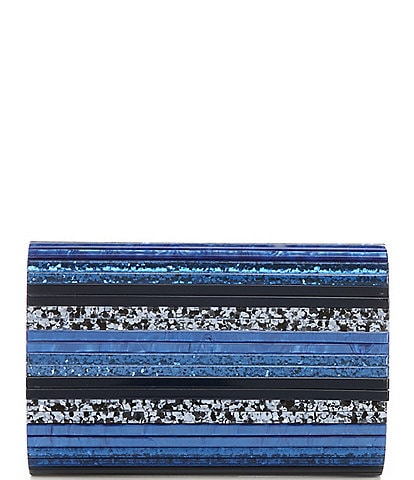 Kurt Geiger London Party Resin Stripe Envelope Clutch