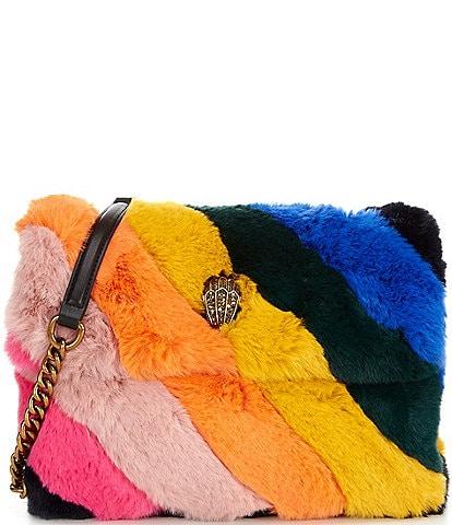 Kurt Geiger London Rainbow Faux Fur Large Kensington Shoulder Bag