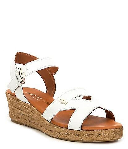 Kurt Geiger Odina Leather Wedge Espadrille Sandals