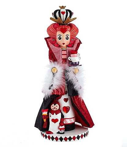 Kurt S. Adler Alice in Wonderland Collection Queen Of Hearts Nutcracker
