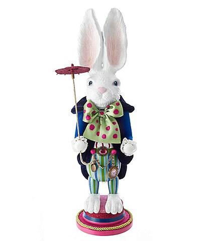 Kurt S. Adler Alice in Wonderland Series White Rabbit Nutcracker