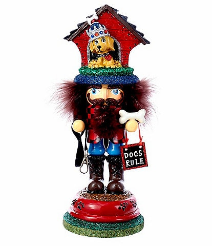 Kurt S. Adler Hollywood Collection Doghouse Hat Collection Nutcracker