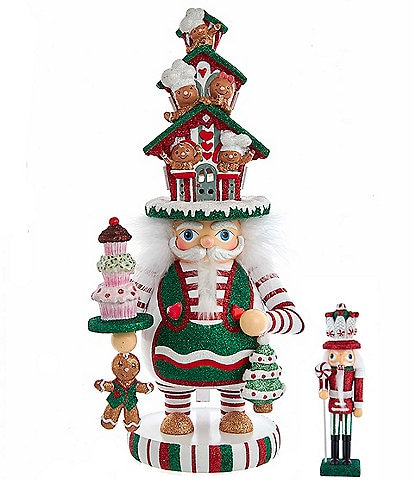 Kurt S. Adler Hollywood Collection Battery-Operated Led Gingerbread House Hat Nutcracker