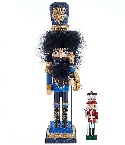Kurt S. Adler Hollywood Collection Blue and Gold Soldier Nutcracker