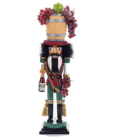 Kurt S. Adler Hollywood Wine Barrel Hat Nutcracker