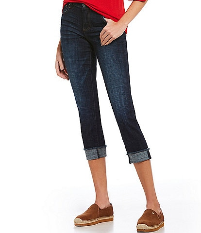 KUT from the Kloth Amy Cuffed Crop Straight Leg Jeans