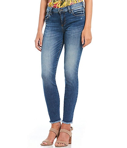 KUT from the Kloth Connie Ankle Frayed Hem Skinny Ankle Jeans
