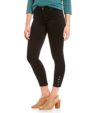 KUT from the Kloth Connie Ankle Skinny Side Snap Detail Hem Jeans