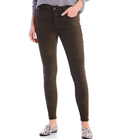 KUT from the Kloth Connie Faux Suede High Rise Skinny Ankle Jeans