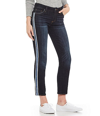 KUT from the Kloth Stevie Varsity Stripe Straight Ankle Jeans