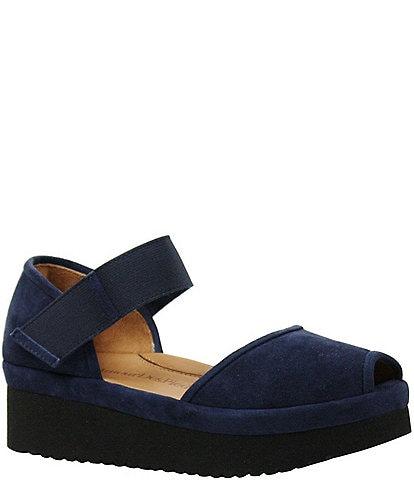L'Amour Des Pieds Amadour Suede Flatform Sandals
