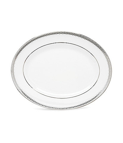 Lace Couture Platinum Oval Platter