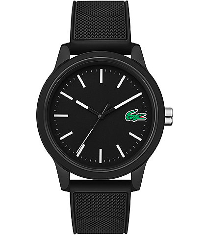 Lacoste 12.12 Black Silicone Strap Watch