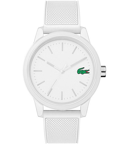 Lacoste 12.12 White Silicone Strap Watch